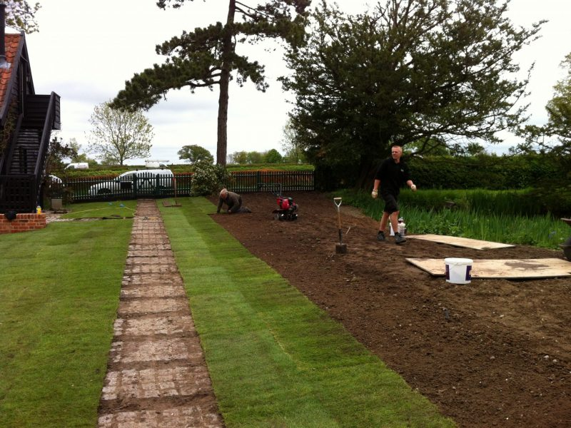 Turfing in Progress