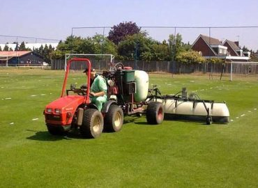 Spraying Weeds on a Sportsfield